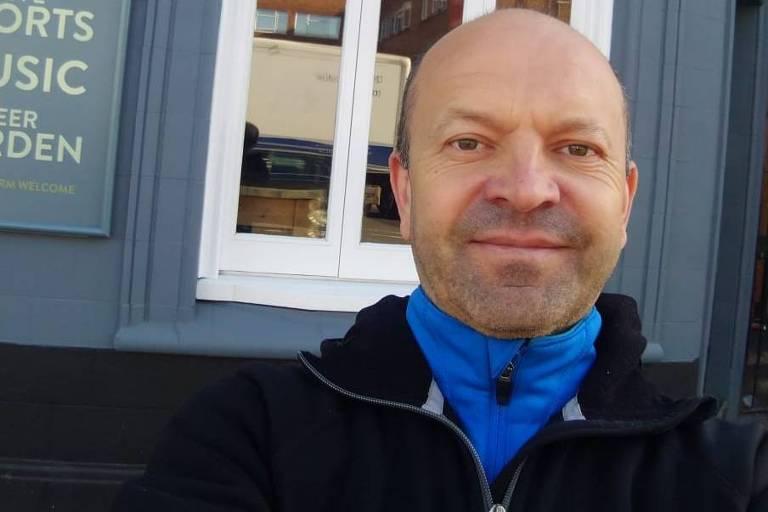 O russo Sergey Sergienko, que vive no Rio de Janeiro e foi para Londres passar a pandemia de coronavírus