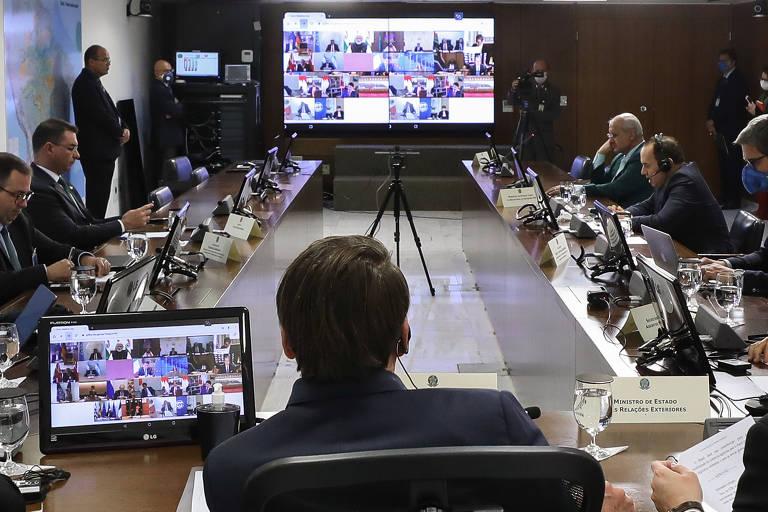 Jair Bolsonaro na crise do coronavírus