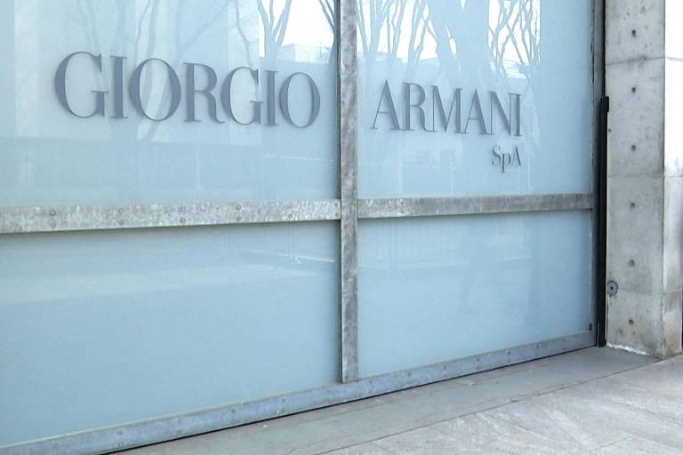 Uma das lojas de Giorgio Armani na Itália