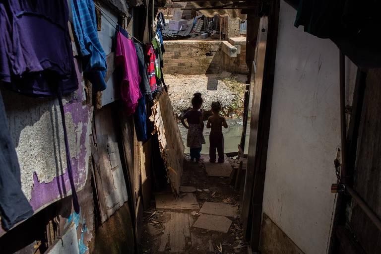 Favela Nazzali localizada na Vila Nova Cachoeirinha, na zona norte de São Paulo