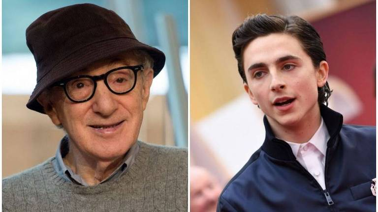 Woody Allen e Timothée Chalamet