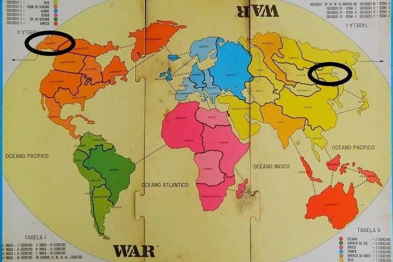 Tabuleiro clássico do jogo War