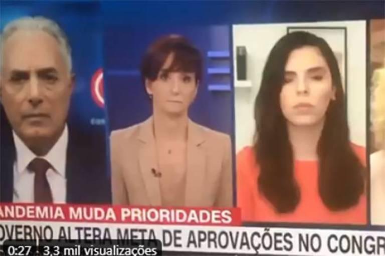 Renata Agostini (à dir.) na CNN