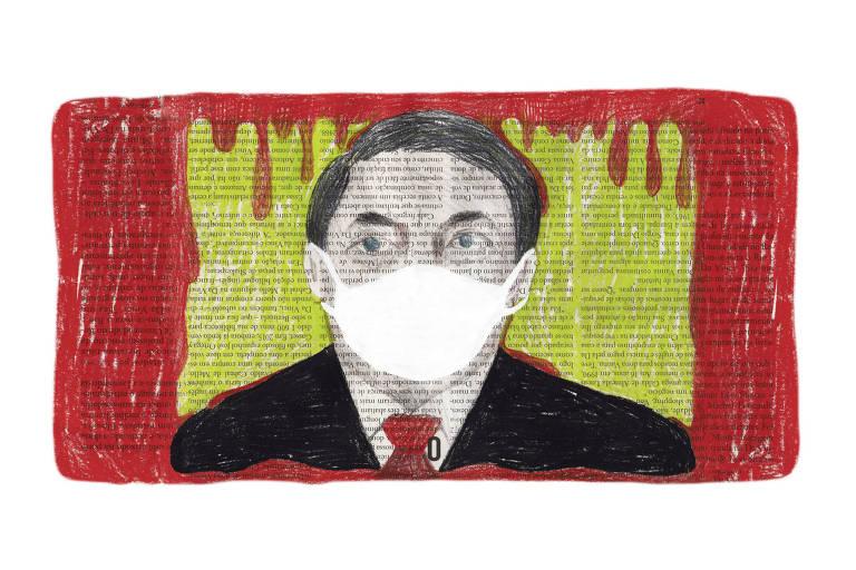 Ilustração do presidente Bolsonaro
