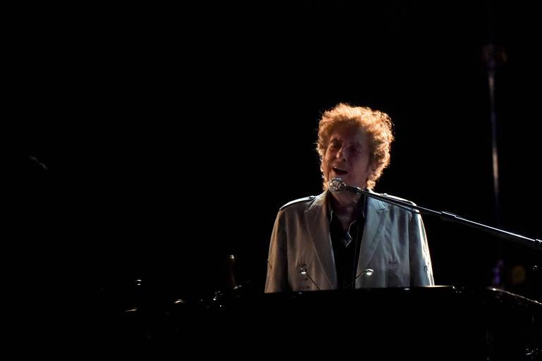 Bob Dylan durante show em Delaware, nos Estados Unidos, em 17 de junho de 2017