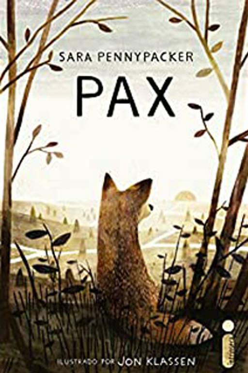 Capa mostra uma raposa olhando a paisagem, um bosque