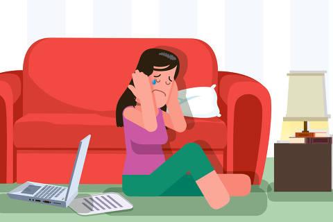 ilustração da matéria do viva bem de 29 de março sobre ansiedade e depressão