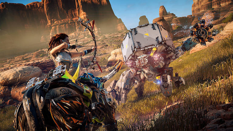 Cena do jogo 'Horizon Zero Dawn'