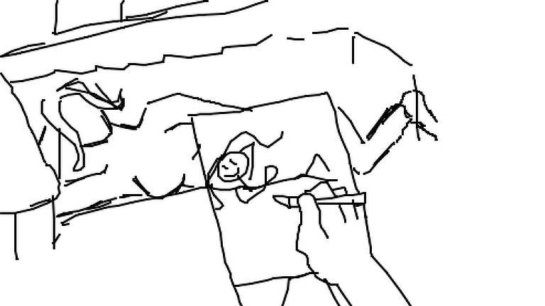 Desenho feito na plataforma 'Gartic' parodia cena de 'Titanic' que virou meme: 'desenhe-me como uma de suas garotas francesas'