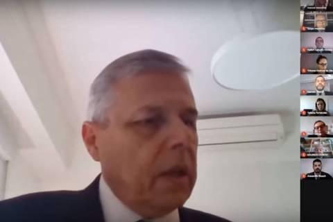 Sessão do TRE-SP (Tribunal Regional Eleitoral de São Paulo) por videoconferência ORG XMIT: LOCAL2003251826377945
