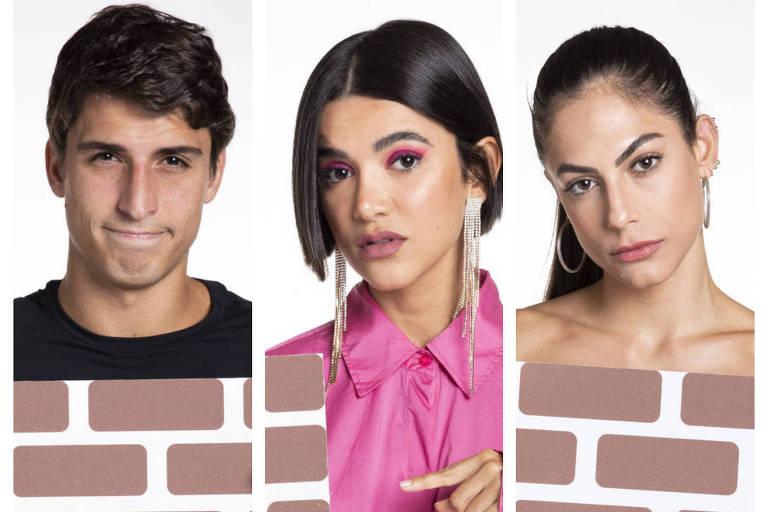 Montagem com fotos de Felipe Prior, Manu Gavassi e Mari Baianinha