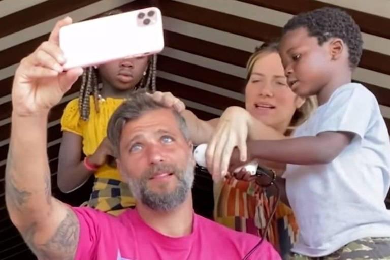 Bruno Gagliasso e família
