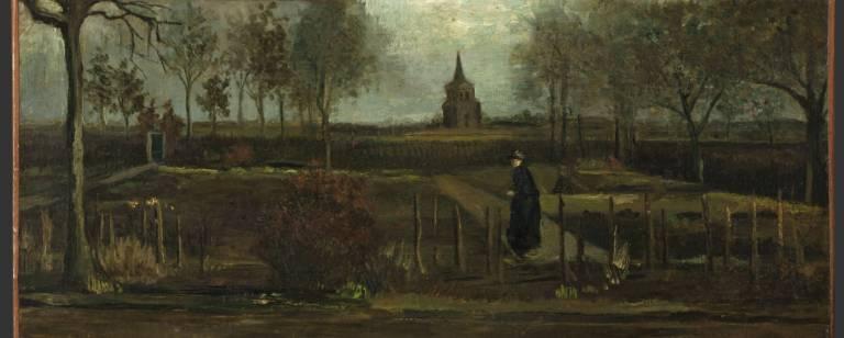 """O Jardim Paroquial de Nuenen na Primavera"" (1884), de Vincent van Gogh"