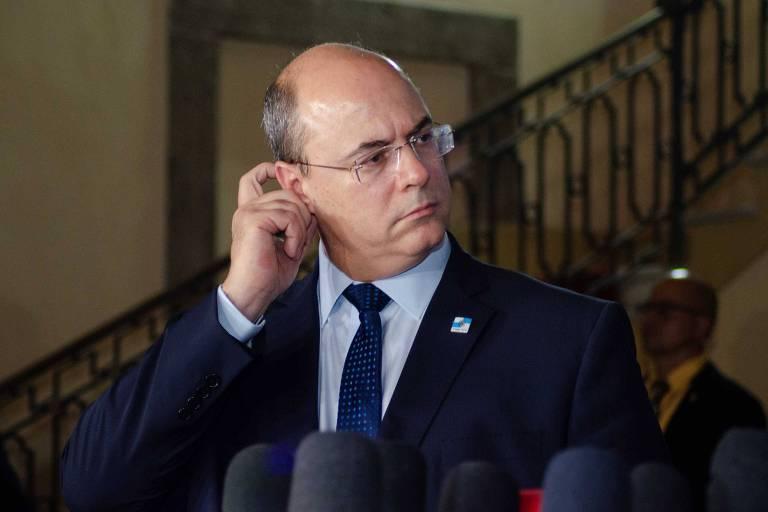 O governador Wilson Witzel no Palácio Guanabara
