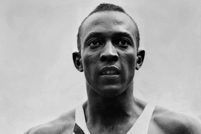 Jesse Owens, durante a Olimpíada de Berlim