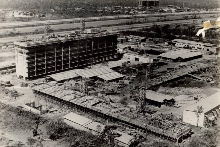 Obras durante a construção de Brasília