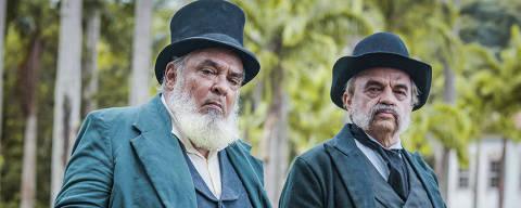 Ambrósio ( Roberto Bomfim ) e Eudoro ( José Dumont ) *** Local Caption *** Nos Tempos do Imperador - Cap 1? Cena 2 ?.Cap 1? Cena 2 ?