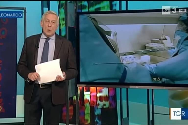 Imagem do programa TGR Leonardo, da TV italiana RAI, em 2015; reportagem foi tirada do contexto nas redes sociais