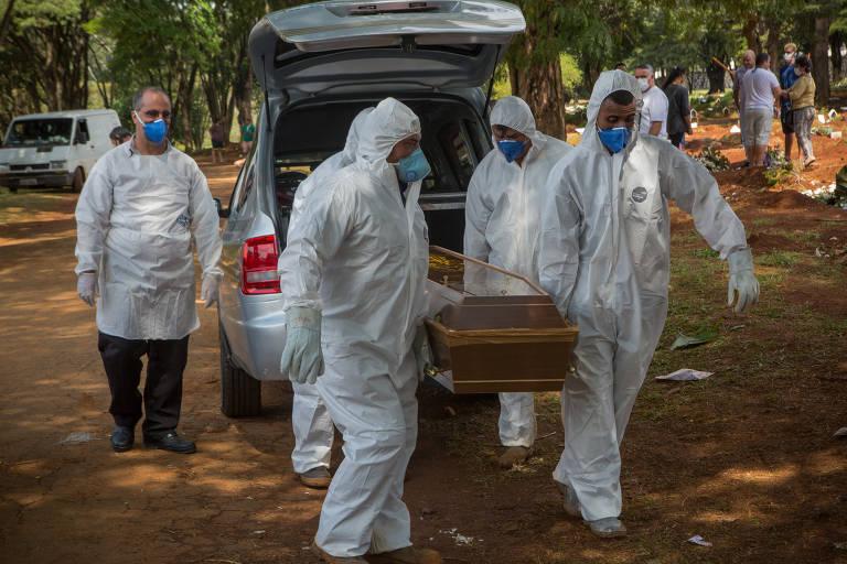 Cemitério Vila Formosa enterra pessoas mortas por suspeita de coronavírus