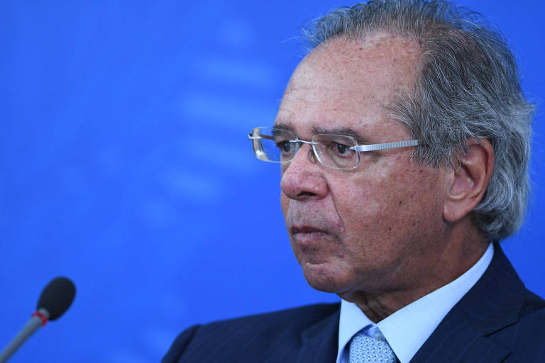 Ministro da Economia, Paulo Guedes, em pronunciamento do governo para falar sobre ações de combate ao coronavírus