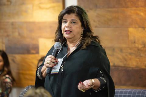 SAO PAULO, SP, BRASIL 02-08-2018: A empresária Luiza Trajano durante encontro de mulheres para debater demandas economicas. (Diego Padgurschi /Folhapress - MERCADO)