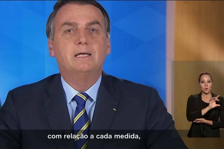 Pronunciamento do presidente Jair Bolsonaro, nesta terça (31)