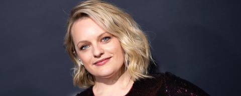 (FILES) In this file photo taken on February 24, 2020 US actress Elisabeth Moss arrives for