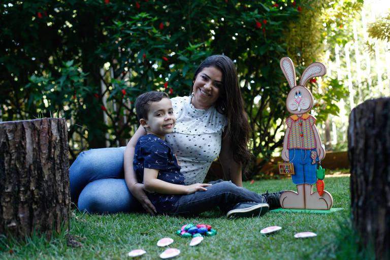 Márcia Machado, empresária e influenciadora digital mãe do Felipe de 5 anos