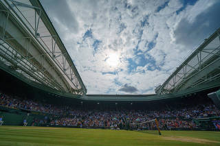 FILE PHOTO: General view of Wimbledon Centre Court