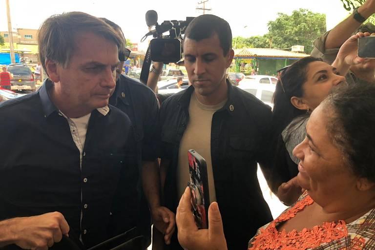 Locais visitados por Bolsonaro no domingo (29)