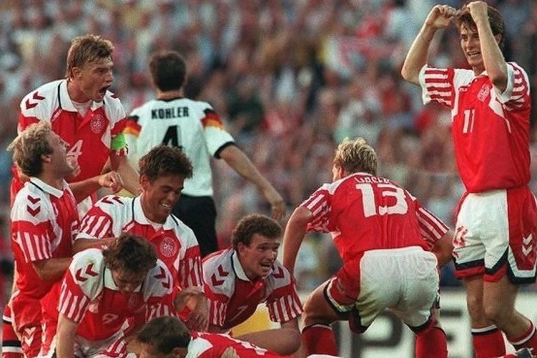 Dinamarca superou favoritas, entre elas a Alemanha na final, para conquistar o título da Eurocopa de 1992