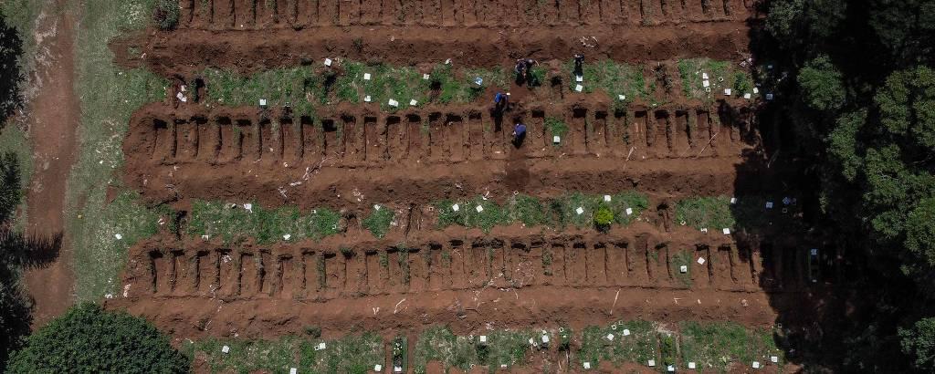 Vista do cemitério na Vila Formosa