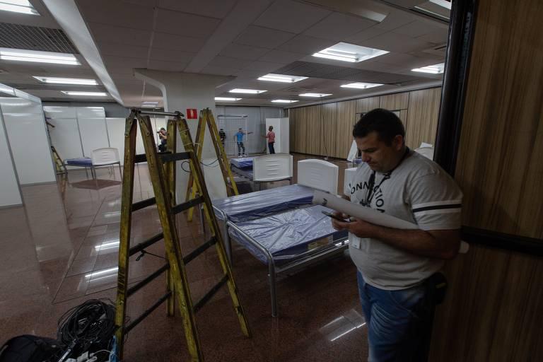 O Hospital Municipal de Campanha Anhembi (HM Camp), no Parque Anhembi, para enfrentamento do coronavírus, que será uma unidade de portas fechadas, para receber exclusivamente pacientes transferidos da rede municipal de saúde