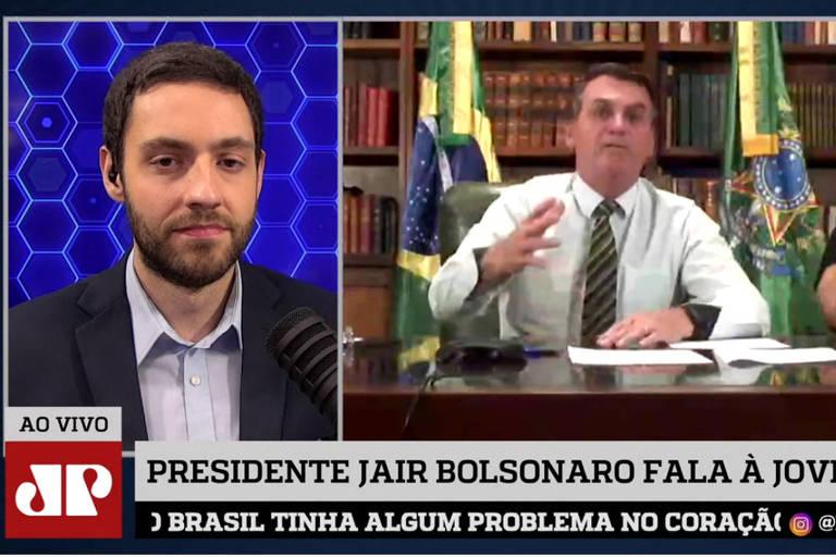 Entrevista de Bolsonaro, no formato de transmissão ao vivo, à rádio Jovem Pan