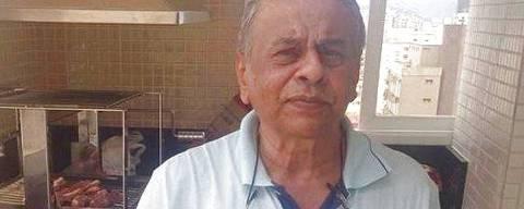 O médico Diamir Gomes, 74, que morreu de Covid-19 em Santos