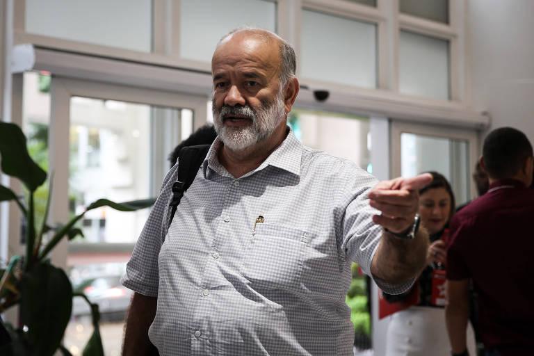 João Vaccari Neto em reunião do diretório nacional do PT