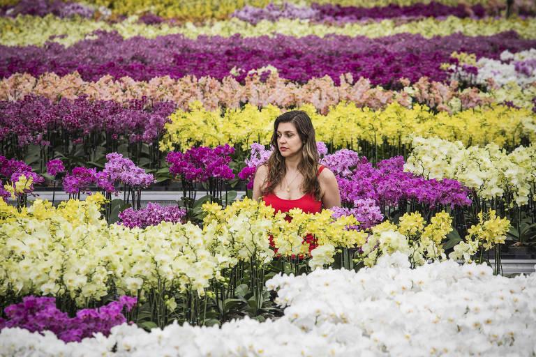 Andreza Esperança Monfardini, 35, uma das proprietárias do  Grupo Esperança, (produtores de flores em Holambra)