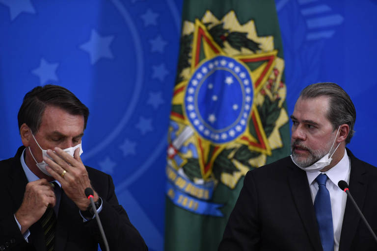 O presidente Jair Bolsonaro e o presidente do Supremo Tribunal Federal, Dias Toffoli