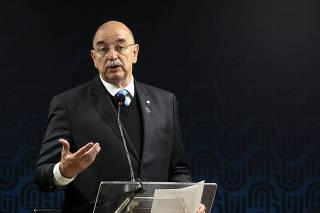 O ministro da Cidadania, Osmar Terra, participa de cerimônia