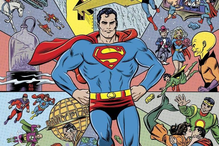 Capa da edição 1.000 da revista do Superman