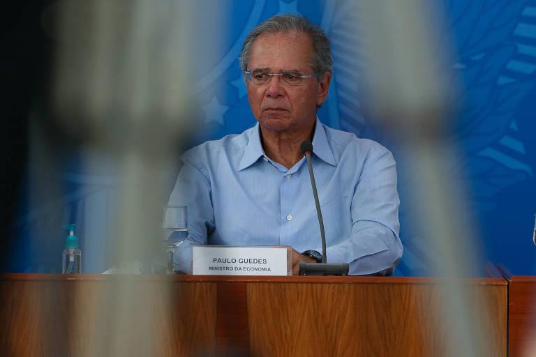 Paulo Guedes, ministro da Economia; ele sugeriu veto caso o governo não consiga desidratar a proposta encampada por Maia