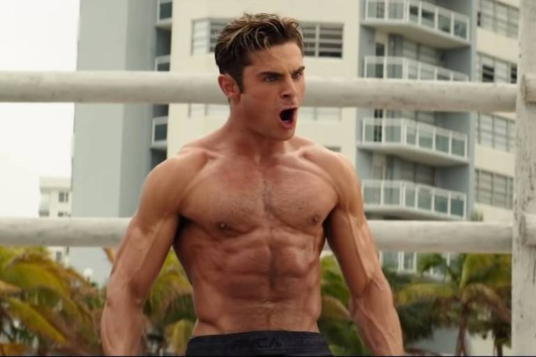 "Zac Efron exibe boa forma na refilmagem de ""Baywatch: S.O.S. Malibu"""