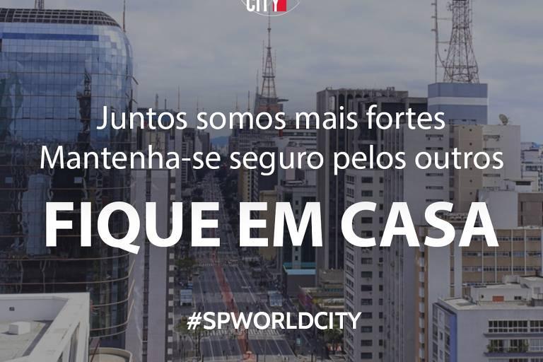 Campanha da Prefeitura de São Paulo exibirá mensagens favoráveis ao isolamento social em relógios públicos da capital paulista