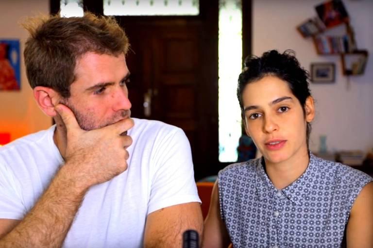 Maria Flor e Emanuel Aragão em vídeo do canal do YouTube Flor e Manu
