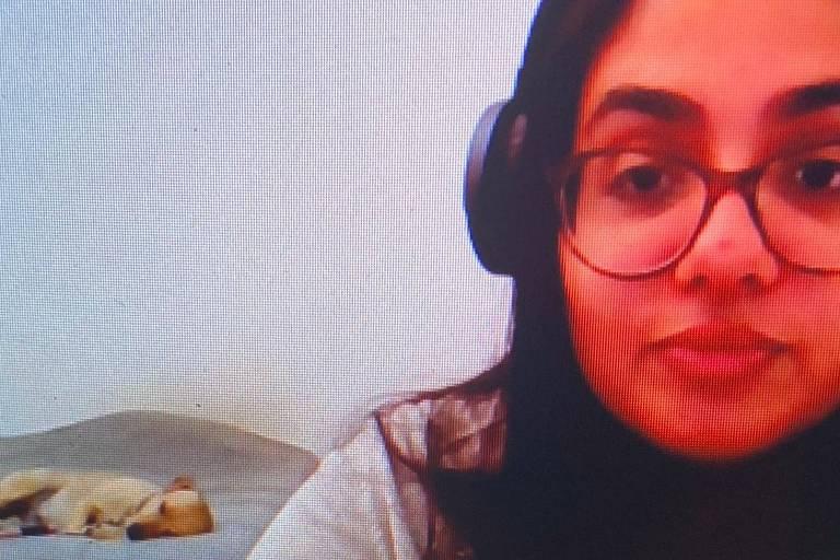 A jornalista Yohana Scaranare, que passou a ter problemas de sono na atual pandemia de coronavírus