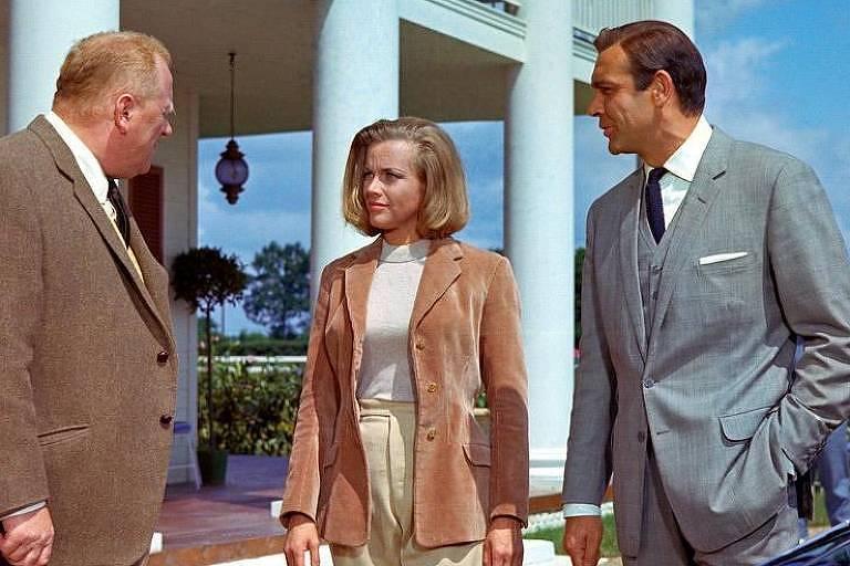 """Honor Blackman em cena de """"007 Contra Goldfinger"""""""