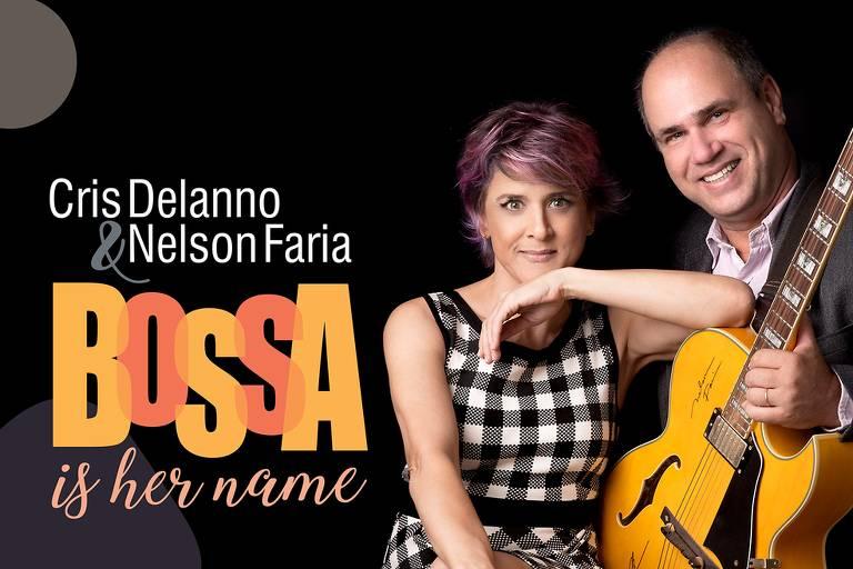 "Capa do álbum ""Bossa is her name"", de Cris Dellano e Nelson Faria"