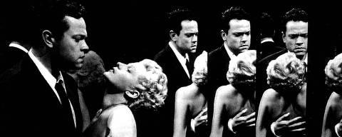 ORG XMIT: 004301_0.tif Orson Welles e Rita Hayworth em cena do filme