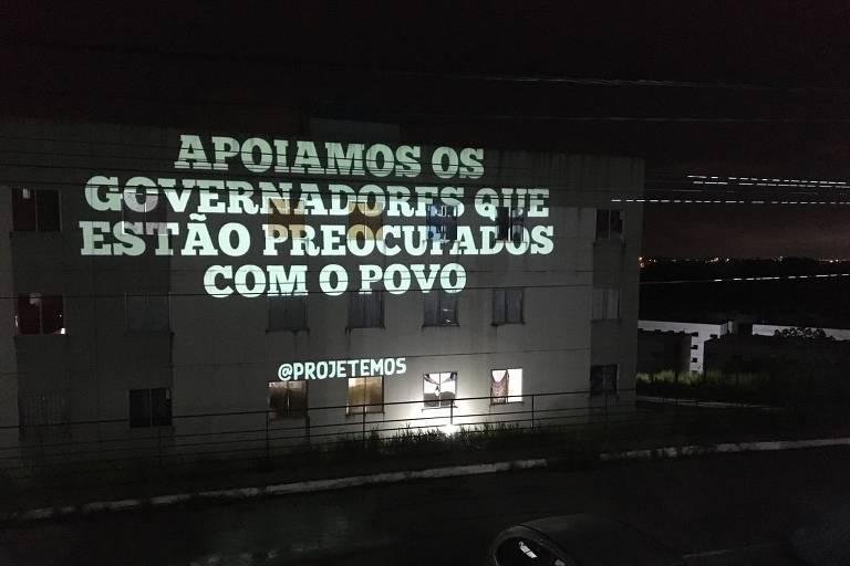 Projeções contra Bolsonaro durante a pandemia