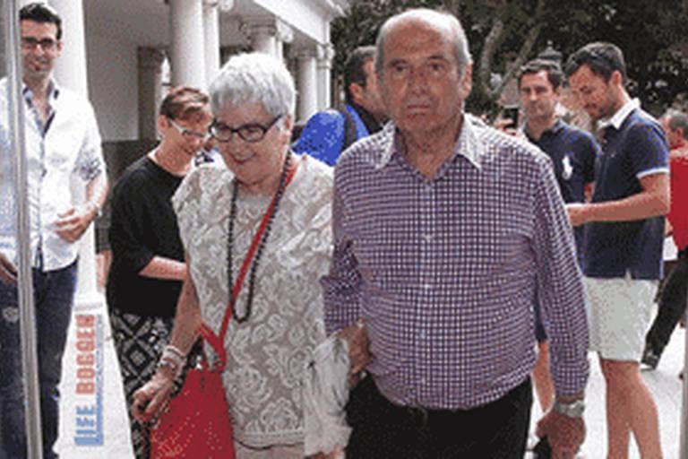 Dona Dolors, mãe de Guardiola, em foto de arquivo pessoal na década de 2010